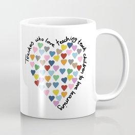 Hearts Heart Teacher Coffee Mug
