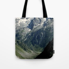 Hiking in the french Alps Tote Bag