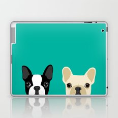 Boston Terrier & French Bulldog 2 Laptop & iPad Skin