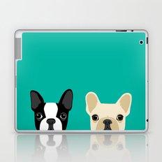Boston Terrier & French Bulldog 2 Laptop & iPad Skin