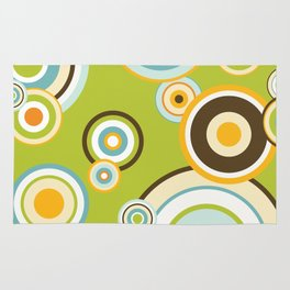 Colorful circle design Rug
