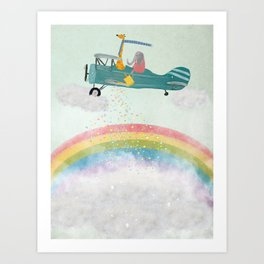 creating rainbows Art Print