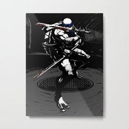 TMNT Leo  Metal Print