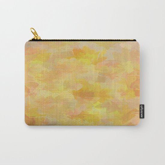 Floating Flowers Painterly Abstract Carry-All Pouch