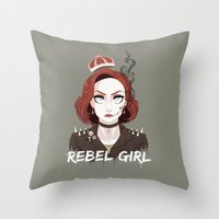 scully Throw Pillows featuring Punk Scully by Sutexii