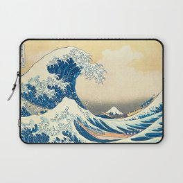 Japanese Woodblock Print The Great Wave of Kanagawa by Katsushika Hokusai Laptop Sleeve