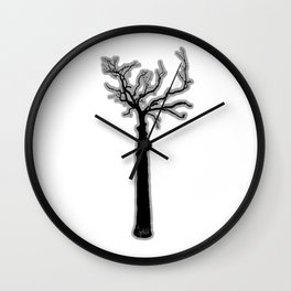 Black & White Tree's Wall Clock