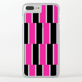 Shifted Illusions - Black and Pink Clear iPhone Case