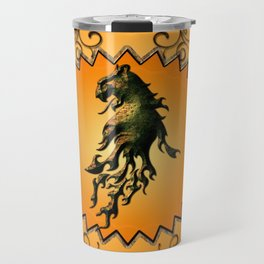 Lion with flame Travel Mug