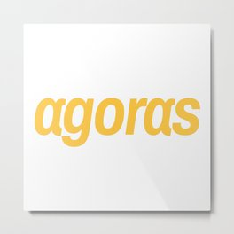 Agoras cryptocurrency Metal Print