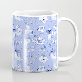 Love Is Stored in The Shih Tzu repeating pattern (blue) Coffee Mug