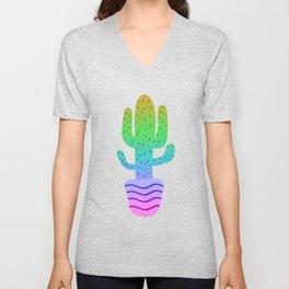 Colourful Cactus Unisex V-Neck
