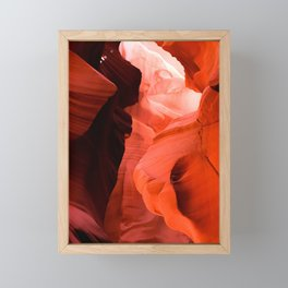 Antelope Canyon, Orange Shadow Dust, Page Arizona, Photo Art Print Framed Mini Art Print