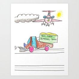 Runway Cleanup Art Print