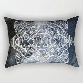Wild white mandala on sky Rectangular Pillow