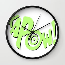 1966 Bat TV Show KAPOW! Adam West Fight Scene Screen Verbiage Artwork Wall Clock
