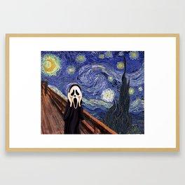 Scream Scary movie Framed Art Print