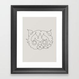 One Line Cat Framed Art Print