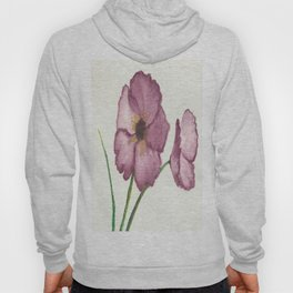 Burgundy Poppies Hoody