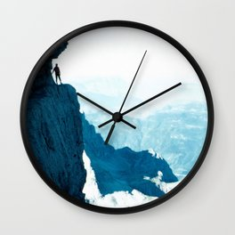 Almost there #Mountain #1 #art #society6 Wall Clock