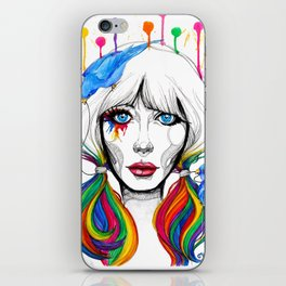 Zooey - Twisted Celebrity Watercolor iPhone Skin