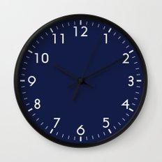 Indigo Navy Blue Wall Clock