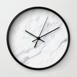 Pure-White-Marble Wall Clock