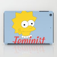 simpson iPad Cases featuring The Great Feminist Lisa Simpson!  by anthonykun