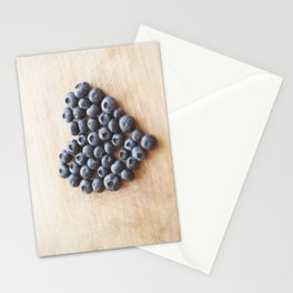 Blueberry Heart Stationery Cards