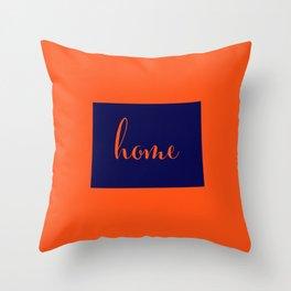 Colorado is Home - Go Broncos Throw Pillow