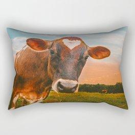 She wears her heart for all Rectangular Pillow