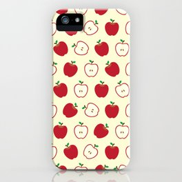 Cute Apple Picture Pattern iPhone Case