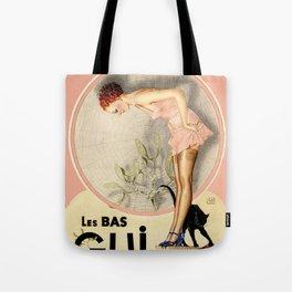 Vintage French Fashion Ad Tote Bag
