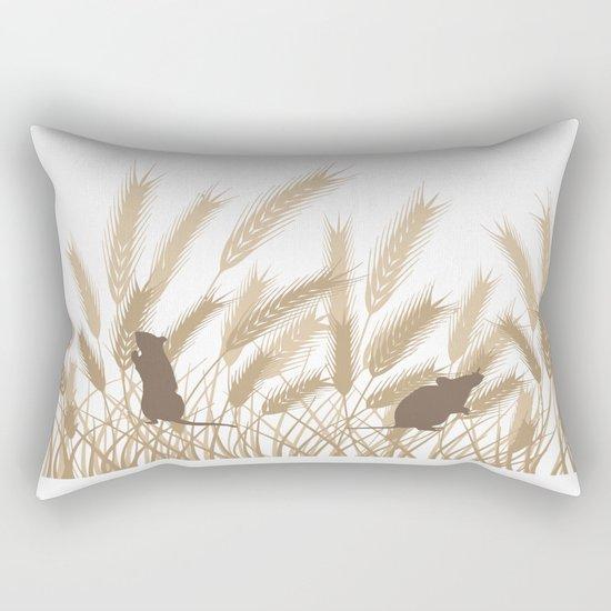 Mice In The Grain No. 2 Rectangular Pillow