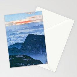 12,000pixel-500dpi - Yoshida Hiroshi - Japan Alps 12, Eboshidake Morning Sun - Digital Remaster Stationery Cards