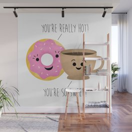 Donut and Coffee  |  Really Hot and So Sweet Wall Mural