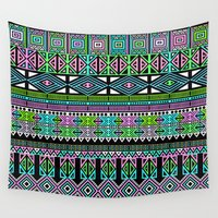 aztec Wall Tapestries featuring Aztec by Fimbis