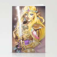 zelda Stationery Cards featuring Zelda by Mika