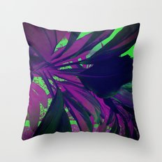 Behind the foliage Throw Pillow