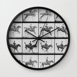 Man riding a horse Wall Clock