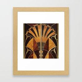 art deco wood Gerahmter Kunstdruck