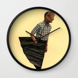 Homme-rocher Wall Clock