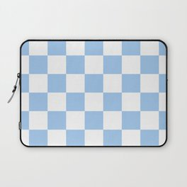 Checkered - White and Baby Blue Laptop Sleeve