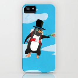 Professor Jetpack Penguin. Esquire.  iPhone Case