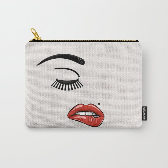 GIRL FACE - EYE - LIPS Carry-All Pouch
