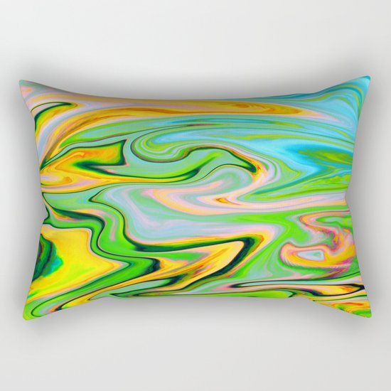 Marbled XIV Rectangular Pillow
