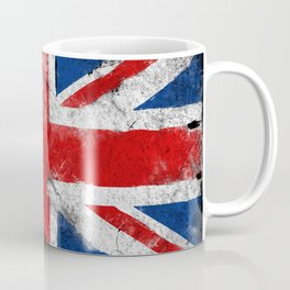 United Kingdom flag Grunge Coffee Mug