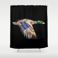 duck Shower Curtains featuring Duck by AkuMimpi