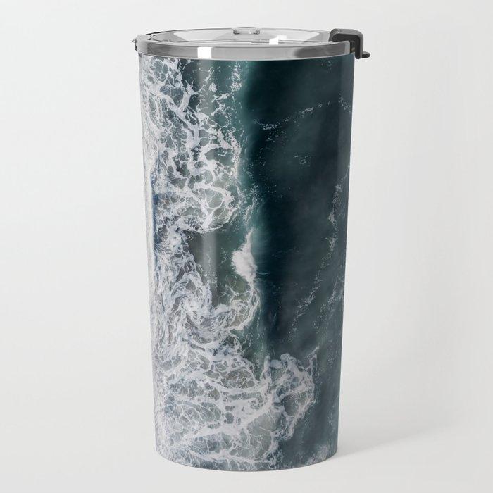 Crashing waves Travel Mug