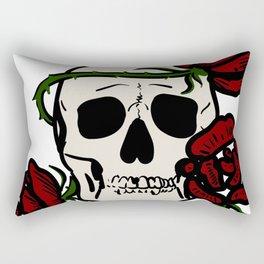 Skull & Roses Rectangular Pillow